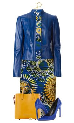 """Blue Leather Jacket and Dress"" by daiscat ❤ liked on Polyvore featuring Alexander McQueen, Lara Bohinc, Dooney & Bourke, Stuart Weitzman and Reeds Jewelers"