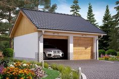 Projekt domu BW-32 wariant 1 133,7 m2 - koszt budowy - EXTRADOM Shed, Outdoor Structures, Little Cottages, Coops, Barn, Tool Storage
