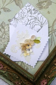 quilled paper invitation