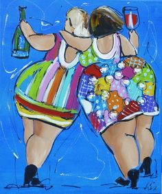 Schilderij van Liz (Paintings by Liz) -Two professional artists (Corrie Leushuis & Renate Rolefes) have found each other in a world of cheerful and colorful paintings. Located in the city of Ootmarsum, Holland.