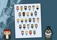 Rock Music alphabet sampler