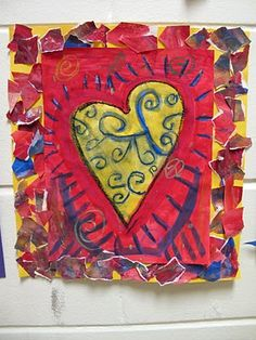 Jim Dine Paint, glue and oil pastels