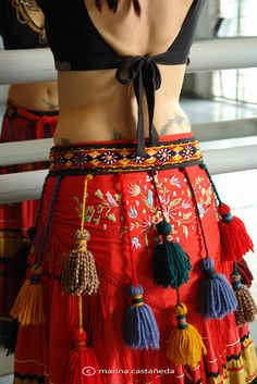 I actually like these tassels. tribal belly dance