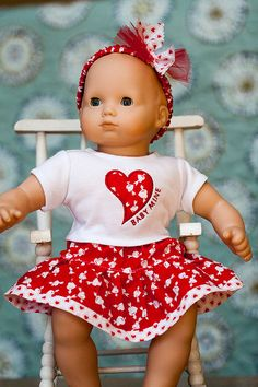 Bitty Baby Valentine Outfit by OriginalsByGaby