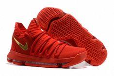 brand new 14ff0 63965 Nike KD X 10 Chinese Red Gold Basketball Shoes Air Jordan 11 Columbia,  Cheap Nike