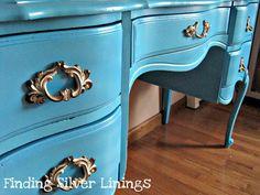 step by step desk spray painting tutorial
