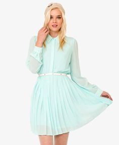 Pearlescent Bead Shirtdress | FOREVER21 -