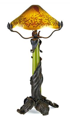 Art Nouveau Lamp by Émile Gallé Lamp