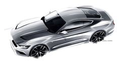 2014-03-14 | Ford Mustang Sketch of the day by Kemal Curic