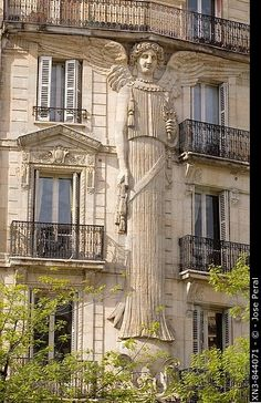 Decorated building Paris, France.