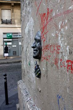 Gregos, Faces in the Wall, Paris + Malta - unurth   street art