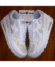 49bb4be36624f Nike Air Max 90 Candy Crystal All White Shoes Nike Air Max Femme, All White