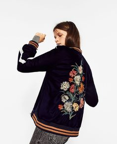 FLORAL EMBROIDERED BOMBER JACKET-View all-OUTERWEAR-WOMAN   ZARA United States