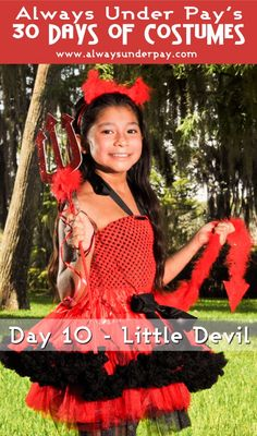 Day 10 – Little Devil DIY Halloween Costume Tutorial | Always Under Pay's 30 Days of Costumes