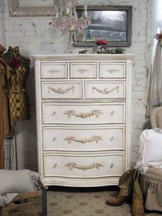 Painted Cottage Shabby Tea Stained Tall Romance by paintedcottages, $825.00