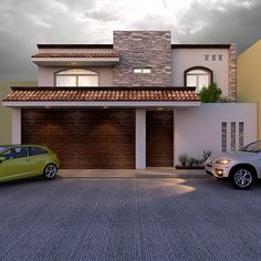 House Outer Design, House Front Design, Modern Front Gate Design, Merida, Modern Bungalow House, Casa Patio, Mexico House, Entrance Design, Dream House Exterior