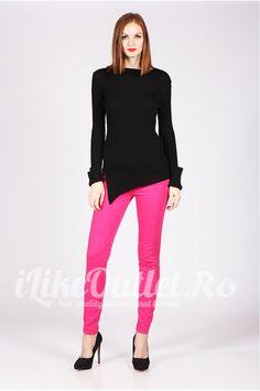Jeansi skinny roz TRF