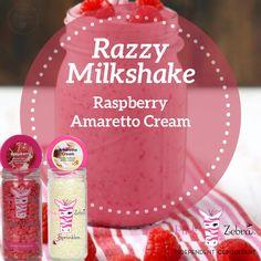 Sprinkles Recipe, Pink Zebra Home, Pink Zebra Sprinkles, Spring Recipes, Us Foods, Milkshake, Raspberry, Cream, Independent Consultant