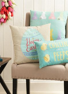 Decorative throw pillows are a quick (and cute) way to liven up your family room or bedroom for Easter. Get set for Easter at Kohl's.