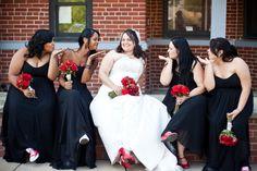 Bridesmaids and bride!