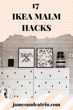 The Ikea Malm is a great piece of furniture, but can be made even better with an Ikea Malm hack. These are the best Ikea Malm hacks we could find. #ikeamalmhacks #ikeahack #malmdresser #ideas Ikea Furniture Hacks, Ikea Hacks, Cheap Furniture, Ikea Malm Dresser, Nightstand, Home Decor Styles, Diy Home Decor, Best Ikea, Ikea Home