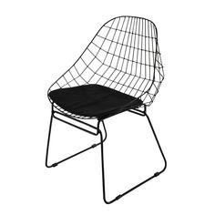 Metallstuhl, Schwarz