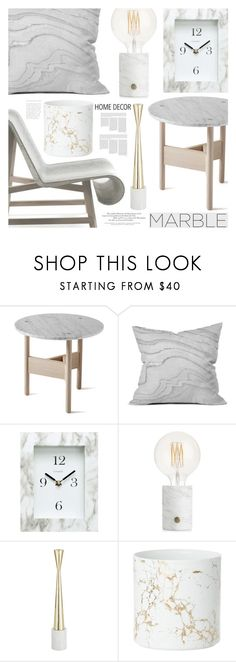 """""""Marble Home"""" by aislinnhamilton1993 ❤ liked on Polyvore featuring interior, interiors, interior design, home, home decor, interior decorating, Atipico, DENY Designs, Chaney and Tom Dixon"""