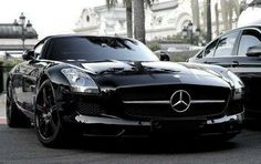 Stunning black Mercedes-Benz SLS AMG, 2012 #shiny