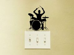 Drum Set Light Switch Velvet Decal Drum Player by Mirshkastudio Show some love and RePin!