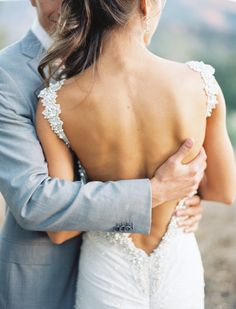 Great way to show off the back of the dress