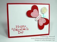 Hearts a Flutter Butterly, valentine, stampin up, dostamping, dawn olchefske