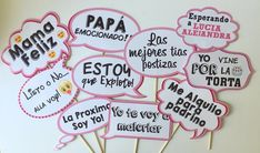 Habladores para tus fotos Juegos Baby Shower Niño, Fotos Baby Shower, Moldes Para Baby Shower, Imprimibles Baby Shower, Flamingo Baby Shower, Baby Shower Balloons, Baby Shower Games, Baby Boy Shower, Hawaiian Baby Showers