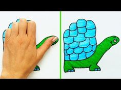 37 Fun and Simple Drawing Tricks Easy Tips on How to Draw and Doodle Drawing Lessons For Kids, Art Drawings For Kids, Animal Drawings, Easy Drawings, Art Lessons, Hand Art Kids, Doodle Techniques, Hand Kunst, Drawing Tricks