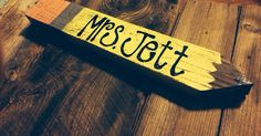 Pencil Name Plate on Etsy, $23.00