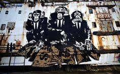 #DuDug Collective - Awesome #graffiti #streetart on abandoned ships #art