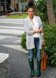 galocha para looks em dias de chuva