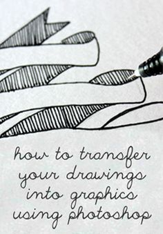 How to Transfer your Writing, Drawings & Doodles into Chalkboard Graphics & Printables Using Photoshop!
