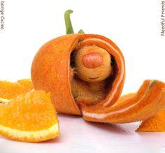 OranGINA in felted orangefruit shell miniature bear 4 inches Needle Felted Animals, Felt Animals, Needle Felting, Felt Dolls, Doll Toys, Plushies, Softies, Felt Fruit, Mermaid Dolls