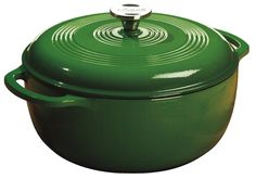 Lodge Color EC6D53 Enameled Cast Iron Dutch Oven Emerald Green 6-Quart 6 qt