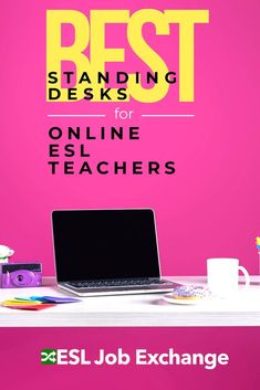 Improve your teaching experience for yourself and your students by finding the best standing desks for online ESL teachers! Best Standing Desk, Standing Desks, Teacher Photo, Teaching English Online, Sit To Stand, Balance Board, Esl, Improve Yourself, Students
