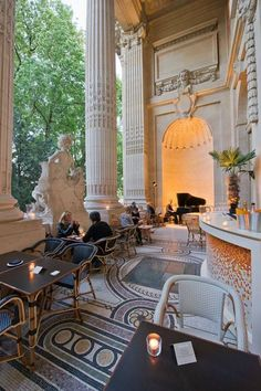 Restaurant Mini Palais, inside the Grand Palais, Paris. Exclusive Restaurants, Luxurious Restaurants, Expensive Restaurants, Fine Restaurants, Luxury Living, Luxury, Best Restaurants. For More News: http://www.bocadolobo.com/en/news-and-events/