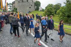 National Day Principality of Liechtenstein. Princess Tatjana, her husband Philipp von Latorff and their children.