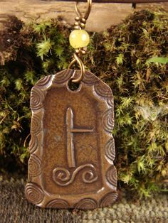 Birch Celtic Tree Astrology Ogham Copper by soulharborjewelry, $28.00