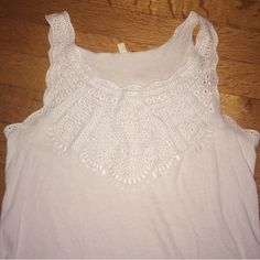 """J.Crew Eyelet Tank J.Crew white eyelet Cami. Size XXS, could easily fit XS or small. 23"""" from shoulder to bottom. Like new, perfect condition. J. Crew Tops Camisoles"""