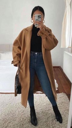 Cute Office Outfits, Casual Outfits For Teens, Smart Casual Outfit, Winter Outfits Women, Casual Chic, Fall Outfits, Cute Outfits, Winter Fashion Casual, Autumn Winter Fashion
