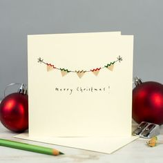 Merry Christmas Bunting Pencil Shaving Card - view all sale items