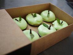 Crisp green apple cupcakes
