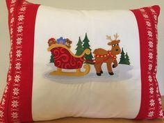 CHRISTMAS Vintage Linen Pillow Vintage by VintageStoryLinens $98