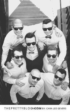 Fun groomsmen photo