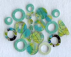 AQUAs by MyELEMENTS on Etsy, $18.00   love these colors!!!
